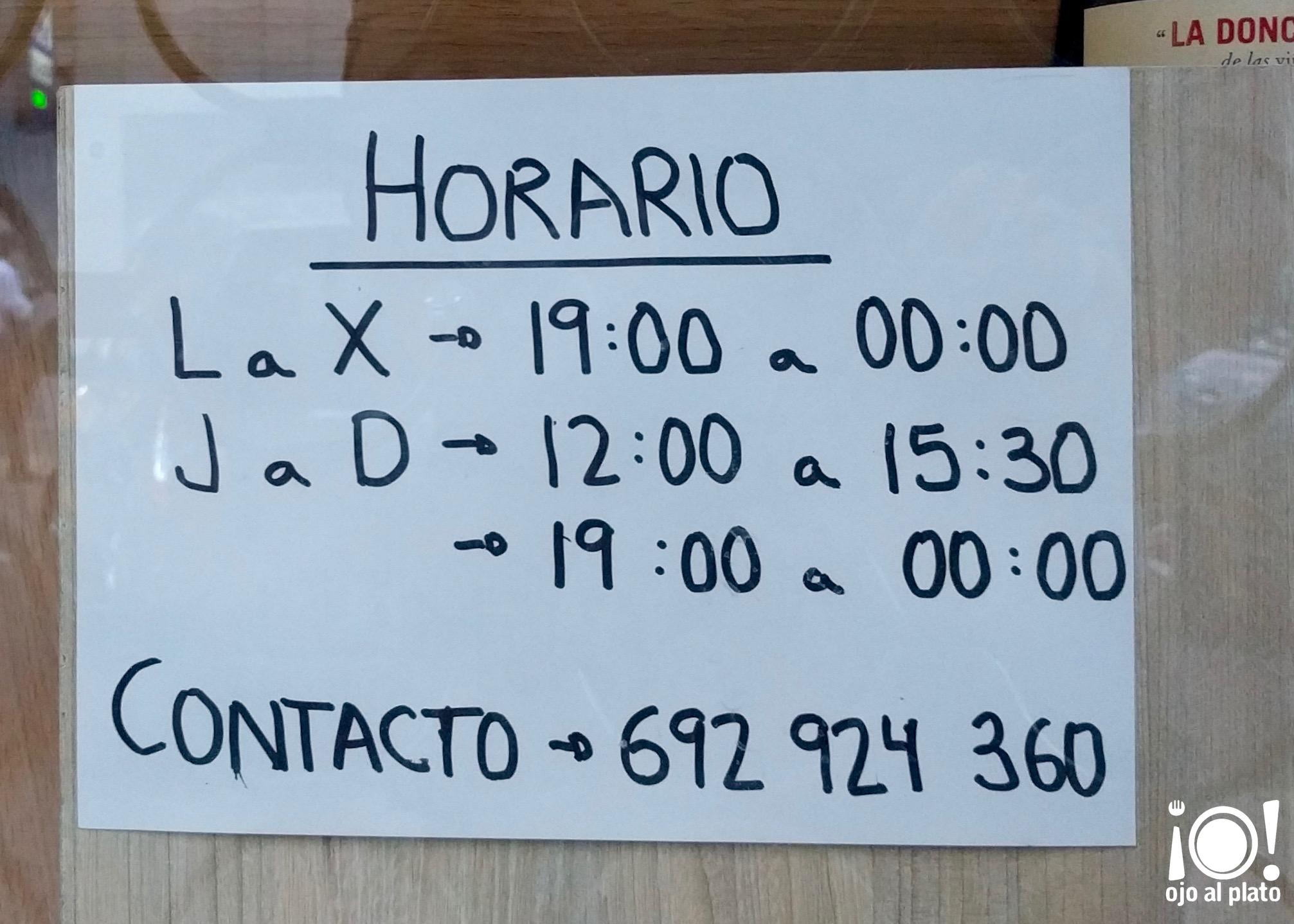 horario albar