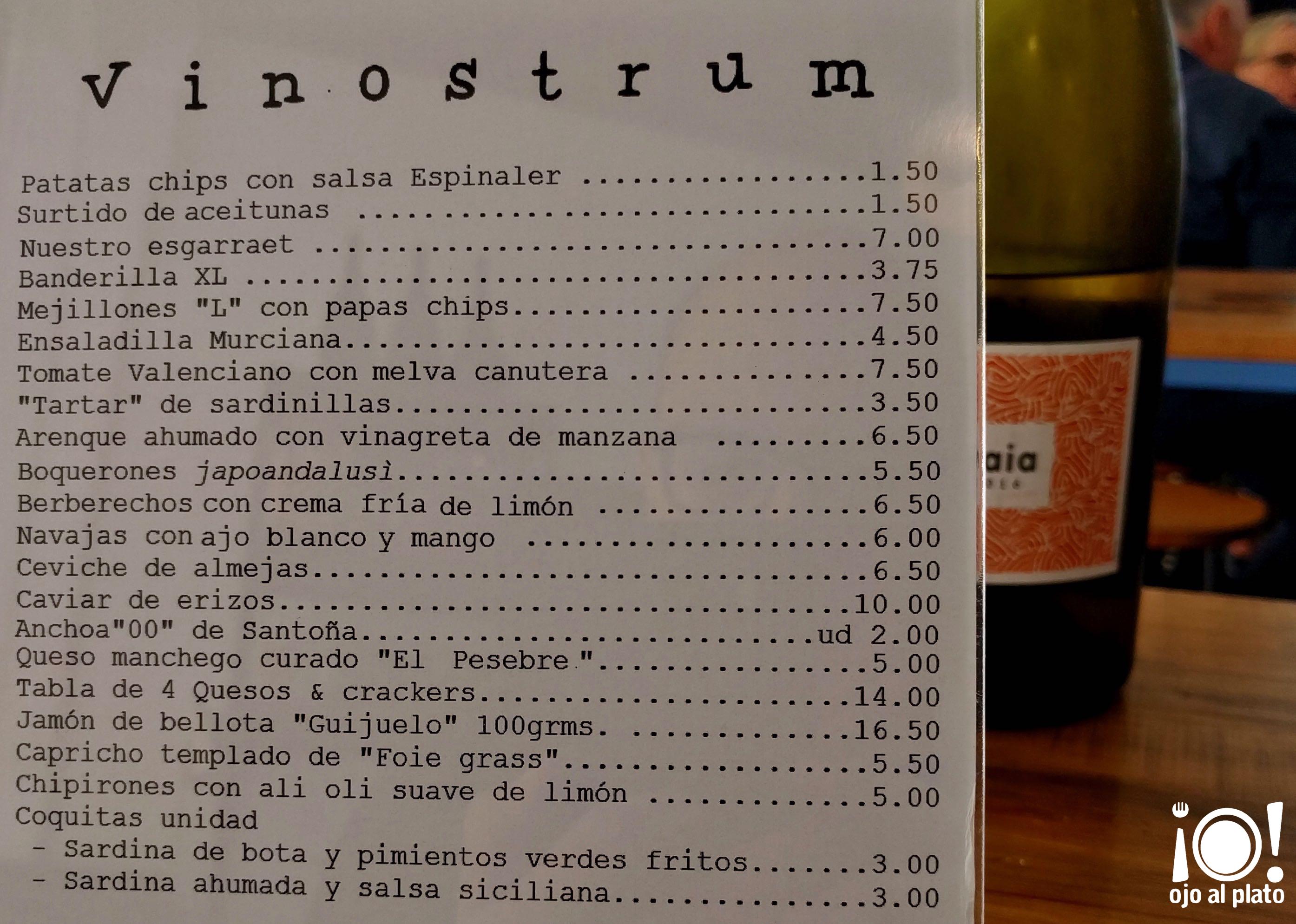 carta vinostrum