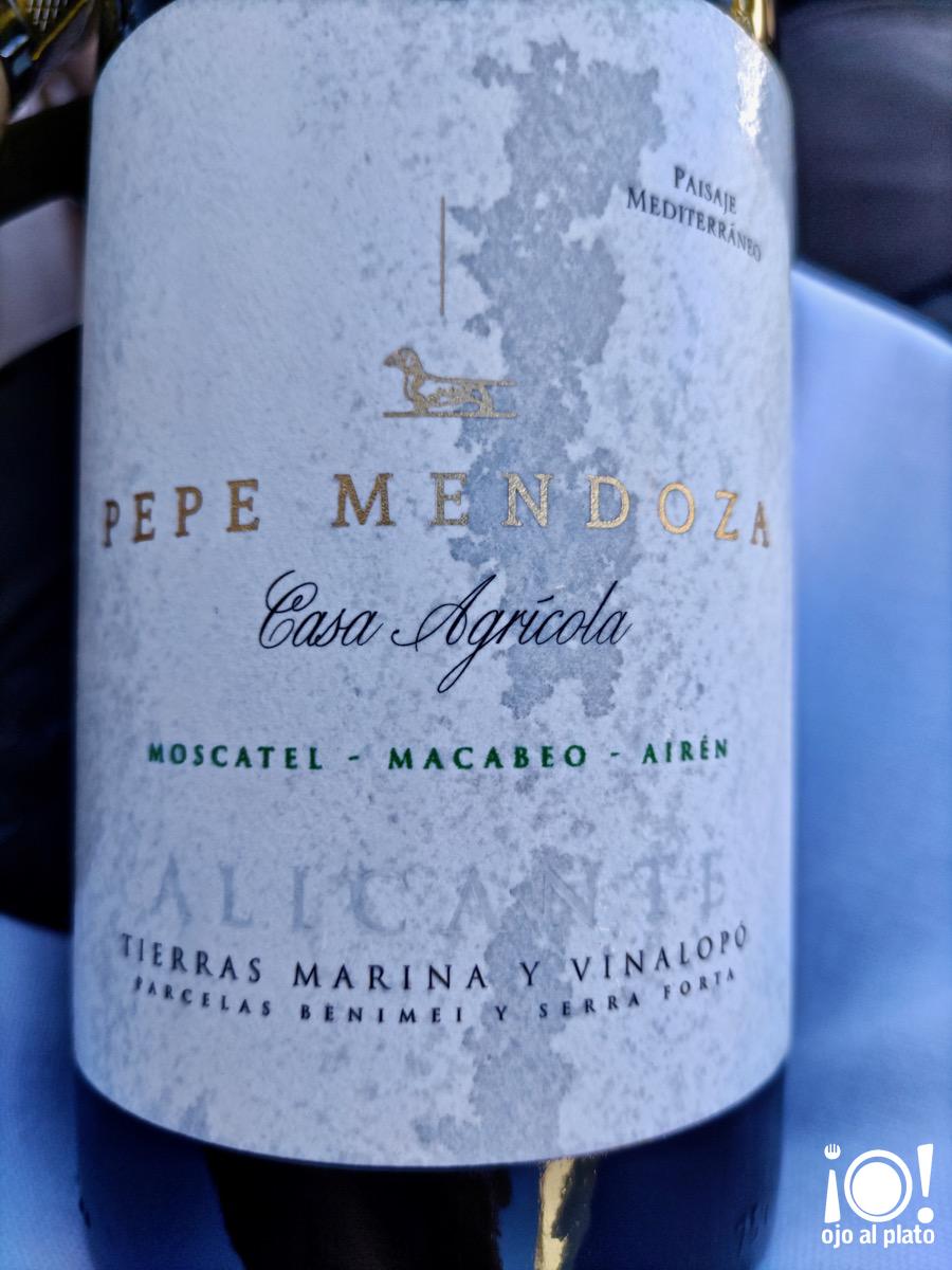 Casa Agrícola blanco Pepe Mendoza