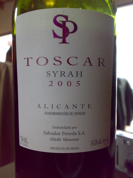 Toscar sirah Alicante