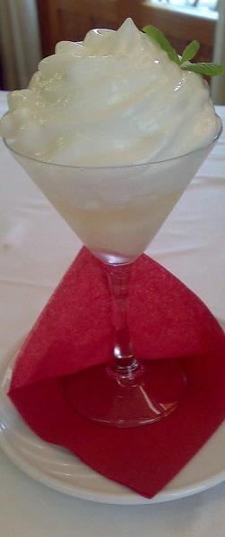 granizado de gin-tonic con espuma de citricos
