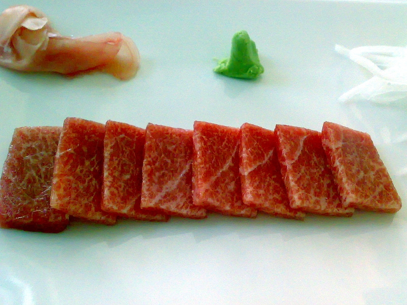 sashimi de ventresca