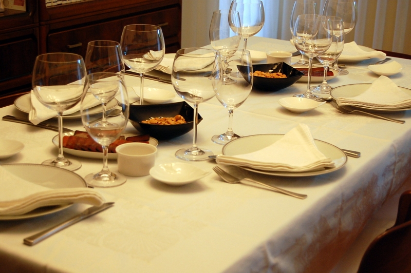 La mesa preparada