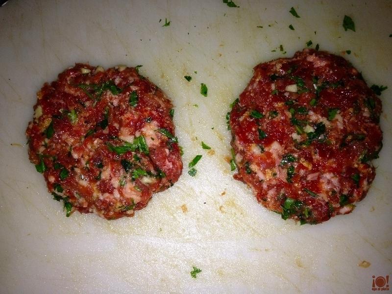 Preparación hamburguesa