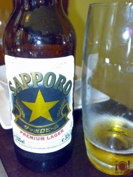 La cerveza, como no, japonesa