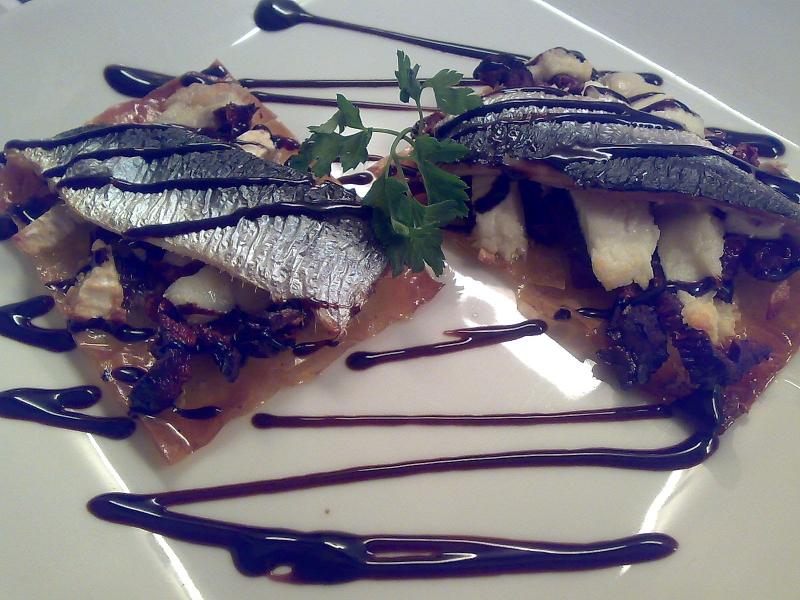 tosta de sardina