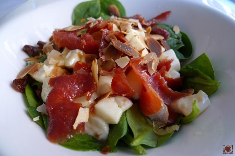 ensalada templada de espinacas