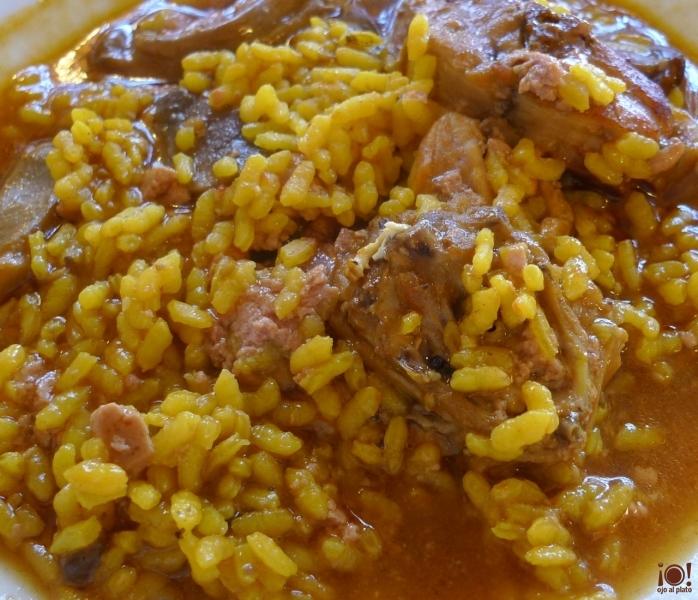 arroz con conejo y foie