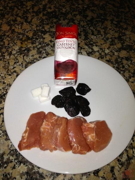 Ingredientes del Solomillo con Salsa de Ciruelas